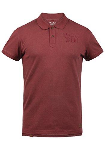 Blend Tadeus Herren Poloshirt Polohemd T-Shirt Shirt Mit Polokragen 100% Baumwolle, Größe:XL, Farbe:Cardinal Red (73020)