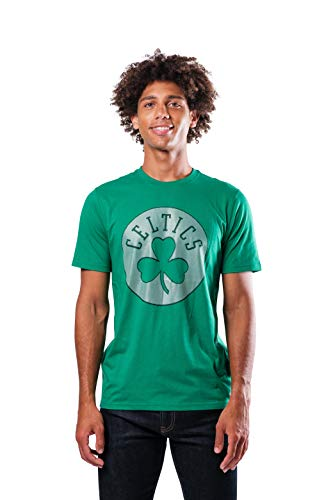 Ultra Game NBA Boston Celtics Mens Brushed Reflective Logo Tee Shirt, Team Color, Large