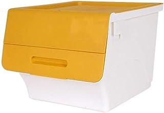 Stable Panier de rangement en plastique Boîte de rangement avec Oblique COUVERTURE Toy Boîte de rangement multifonctions B...