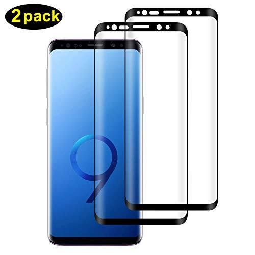 DOSMUNG [2 Pack Vetro Temperato per Samsung Galaxy S9, Pellicola Protettiva per Samsung Galaxy S9 [9H Durezza] [Curva 3D] [HD Alta Trasparenza] [Copertura Completa] Samsung Galaxy S9 Tempered Film