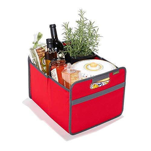 Faltbox Classic Medium Hibiskus Rot / Uni 32x37x27,5cm stabil abwischbar Polyester Premium Qualität Wohnen Einrichtung Möbel...