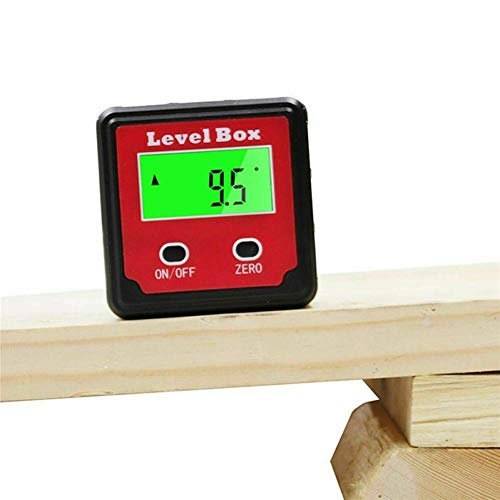 0-360 ° Inclinómetro Digital Nivel Caja LCD Transportador De ángulos Buscador De Nivel Medidor De Nivel Medidor De Bisel Con Imanes Base Para Sierra De Inglete Prueba Y Reparación De Automóviles