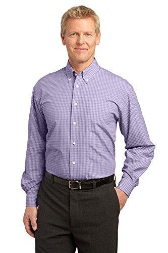 Port Authority® Plaid Pattern Easy Care Shirt. S639 Purple 4XL