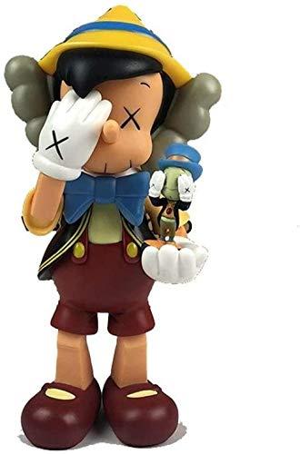 Mdcgok KAWS Art Toys 11 Original Kunstspielzeug Pinocchio Actionfigur Figur/Inneneinrichtung/Schlafzimmer Kunst Berühmte Zeichentrickfigur Begleitmodell