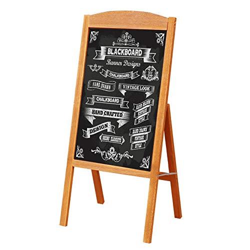 片面 立て看板 黒板 スタンド 折り畳み A型 看板 木枠 高さ90cm ブラックボード 屋外 室内 メニュースタンド ウェルカムボード 磁石 チョーク 蛍光マーカー 対応 広告板 木目