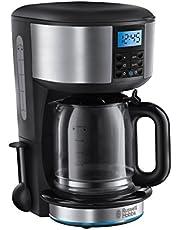 Russell Hobbs Buckingham Dijital Kahve Makinesi, 10 Fincana Kadar, 1,25 Litrelik Cam Sürahi, Programlanabilir Zamanlayıcı, Otomatik Kapanma, 1000 W, Filtre Kahve Makinesi 20680-56