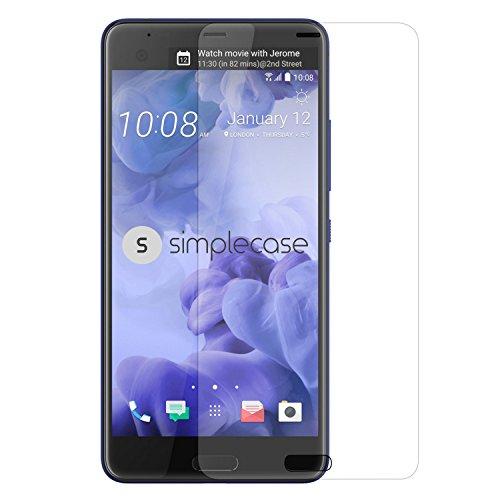 Simplecase Panzerglas passend zu HTC U Ultra , Premium Bildschirmschutz , Schutz durch Extra Festigkeitgrad 9H , Hülle Friendly , Echtglas / Verb&glas / Panzerglasfolie , Transparent - 1 Stück
