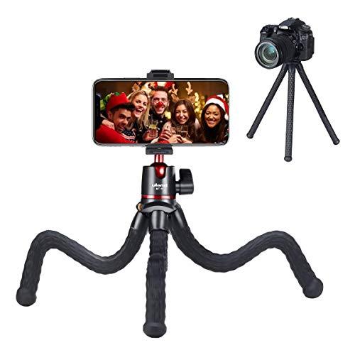 """MT-11 Octopus Stativ, Flexibles Mini-Stativ Tripod mit Smartphone-Halterung, Kugelkopf und 1/4"""" Gewinde für Smartphone iPhone Huawei, Kamera und Sony und Sportkamera GoPro"""