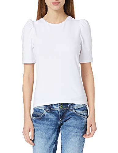 Only Onllive Love Life 2/4 Puff Top JRS Noos Camiseta, Blanco, L para Mujer