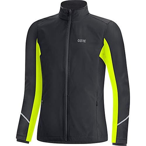 GORE WEAR R3 Damen Jacke Partial GORE-TEX INFINIUM, 38, Schwarz/Neon-Gelb