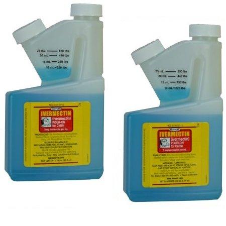 Durvet (2 Pack) Ivermectin 250 mL Pour On Dewormer