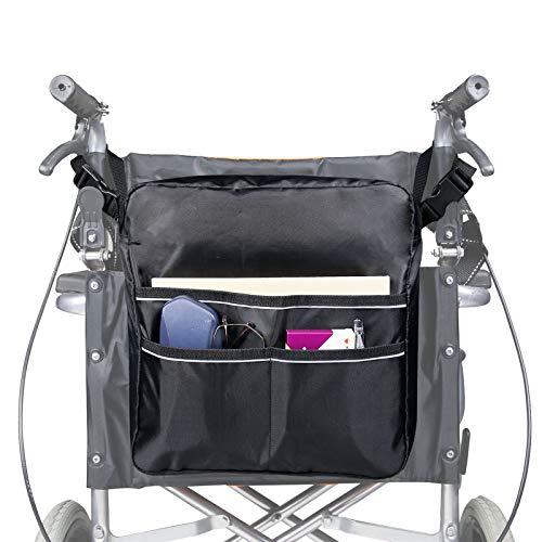 Bolsa para silla de ruedas, mochila bolsa de almacenamiento para silla de ruedas, accesorio para llevar artículos sueltos y accesorios, mochila de viaje para hombres, mujeres, minusválidos, ancianos