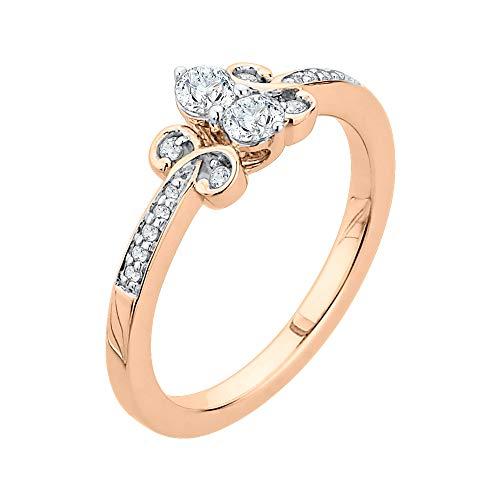 Katarina 14 quilates oro rosa redonda J-K Diamond