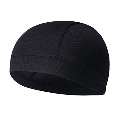 WINOMO Gorra negra para el cráneo Gorro deportivo de secado rápido Gorro deportivo Sweatband