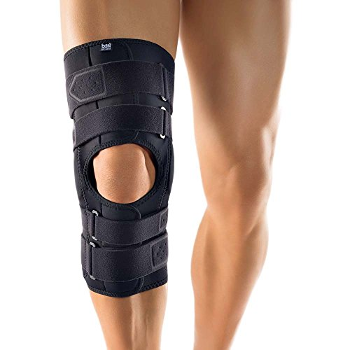 Bort StabiloPro® Kniebandage offene Form Orthese Knie Gelenk Bandage Stütze, XXXL