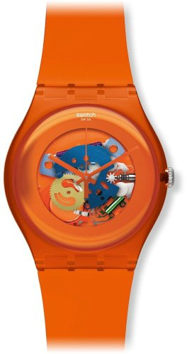 Swatch Orange Lacquered Ladies Watch SUOO100