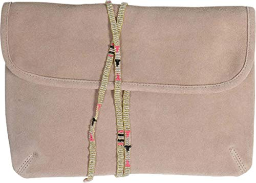 Star Mela Damen Clutch Nara aus Wildleder in Beige One size