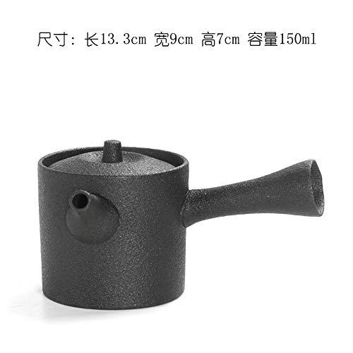 Teiera In Ceramica Teiere Juego De Té De Kungfu De Cerámica Negra, Estilo Japonés, Gres, Tetera Lateral, 150 Ml, Cerámica Negra