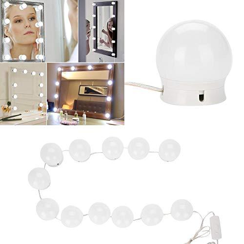 Hollywood Make-up spiegel met ledverlichting, dimbare gloeilampen voor cosmeticaspiegels, doe-het-zelf decoratieve verlichtingsstrips voor dressing, cosmetica, badkamer (spiegel is