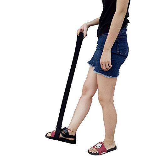 XJZHANG Beinhebergurt mit Fußbügel und Handgriff, mit Hüftgurt Beinheber für behinderte, ältere Physiotherapie (schwarz)