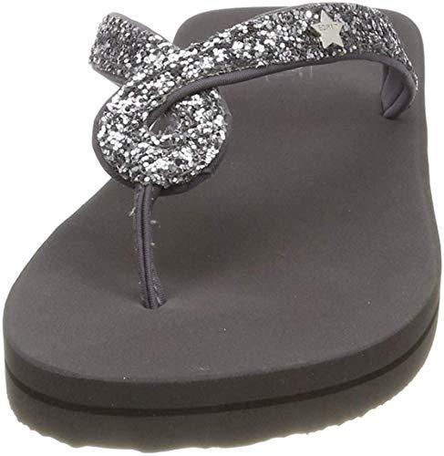 ESPRIT Damen Glitter infinit Pantoletten, Grau (Grey 030), 36 EU
