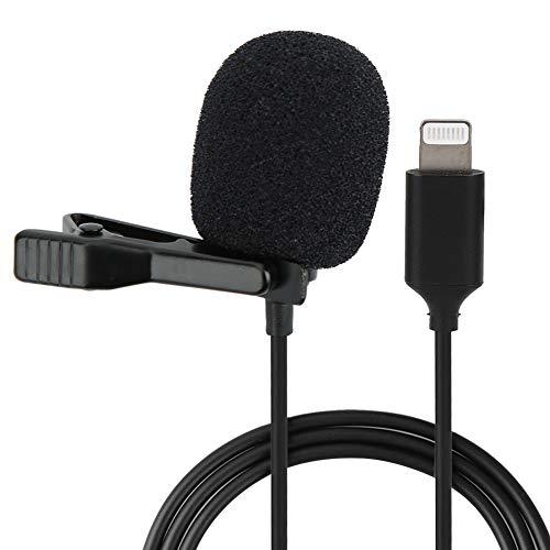 Mavis Laven Micrófono de Solapa, micrófono de Cable con Clip Micrófono de 6 m para entrevista de transmisión en Vivo de teléfono iOS