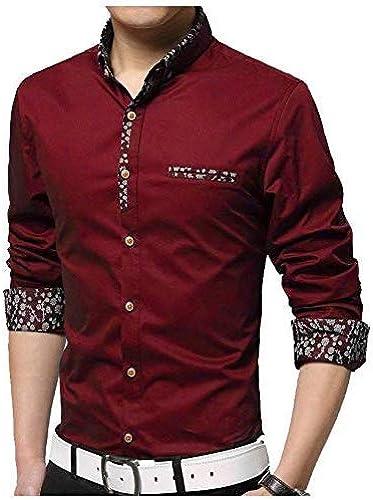 Fashion Full Sleeve Slim Fit Plain Formal Shirt For Men Cotton Shirts Office Wear Formal Shirt