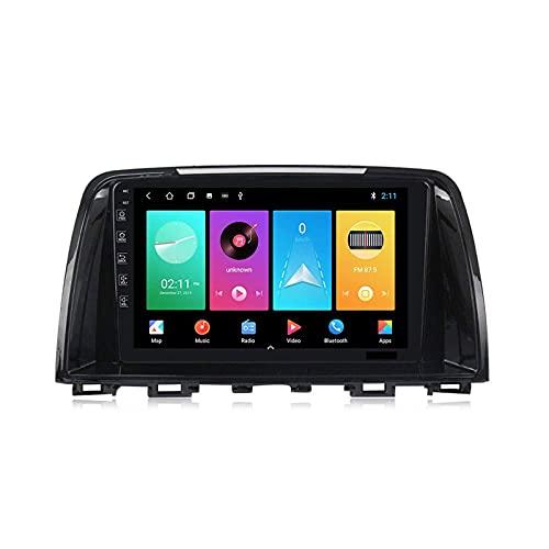 Android 9.0 Player Multimedia para Mazda 6 2012-2016 Unidad de Cabeza Radio Estéreo de 9 Pulgadas HD Pantalla táctil HD Nav con Bluetooth WiFi 4G SWC GPS Navegación FM Receptor, 4 núcleo 4g + WiFi: 1