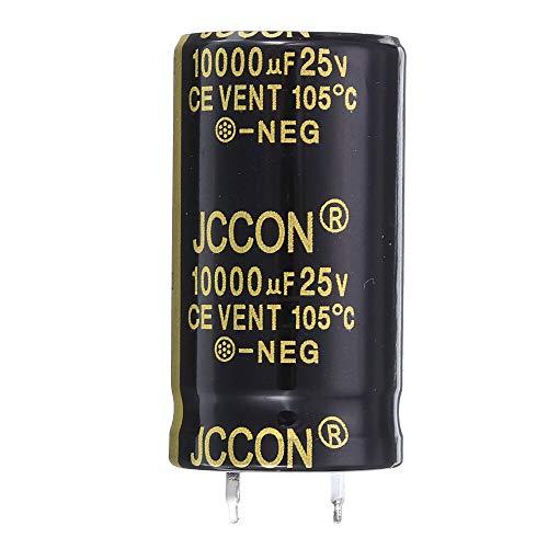Modulo electronico Aluminio Radial 10000uF 25V 22x40mm condensador electrolítico de alta frecuencia de 105 ° C (3 piezas)
