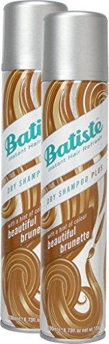 Batiste Trockenshampoo Dry Shampoo Beautiful Brunette mit einem Hauch von Farbe für brünettes Haar, Frisches Haar für alle Haartypen, 2er Pack (2 x 200 ml)