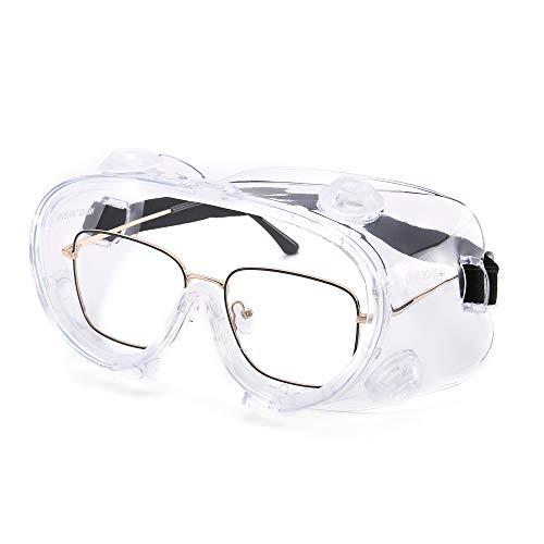 Transparente Schutzbrille mit Riemen Antibeschlagbrille f/ür medizinische Augenschutzviren