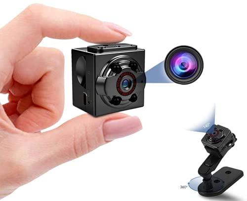 Mini cámara 1080P, Niñera Cam Full HD con activación de movimiento de visión nocturna para cámaras de seguridad cubiertas interiores y exteriores (DHX-SQ8)