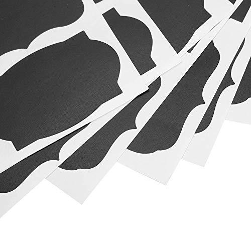 Etiqueta engomada del PVC de la maceta, etiqueta engomada del PVC de la cocina fácil de escribir 328 piezas reutilizables para marcar cajas de té para marcar copas de vino