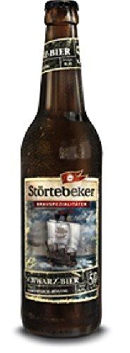 10 Flaschen Störtebeker Bier Schwarzbier Schwarz Bier a 0,5L Brauspezialitäten 5% Vol.inc. 0.80€ MEHRWEG Pfand