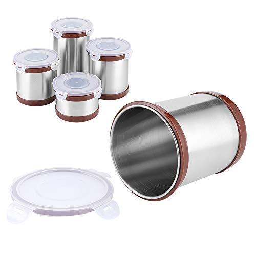 4er Set Kaffeedose, Edelstahl Kaffeebohnen behälter Vorratsdosen, für Kaffee, Tee, Kakao, Nuss, 1200ml, 900ml, 650ml und 500ml