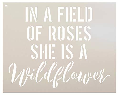 Sie ist eine Wildblume–Wort Schablone–von studior12| Fun und einzigartig–wiederverwendbar Mylar Vorlage | Malerei, Kreide, Mischtechnik | wählen Größe 6
