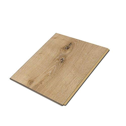 "Cali Bamboo - Cali Vinyl Plus Cork-Backed Vinyl Floor, Extra Wide, Natural Elm Wood Grain - Sample Size 5-3/4"" L x 7 1/8"" W x 7mm H"