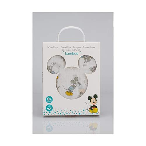 Interbaby Mk019 - Muselina Disney Mickey Counting Sheep Color Blanco