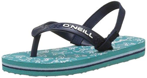 O'Neill Unisex Kinder FY Team Lil FLIP Flops Badeschuhe, Green Blue, 22 EU