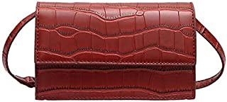 TOOGOO Stone Pattern Crossbody Bags For Women Small Pu Leather Purses And Handbags New Designer Ladies Shoulder Messenger Bag Big Red