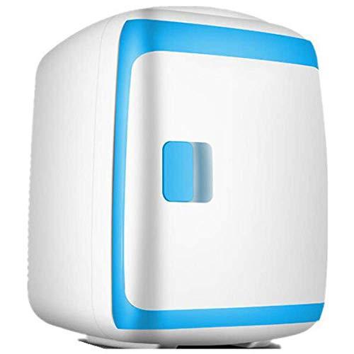 FZYE Mini Nevera portátil, refrigeración silenciosa, Compacto, Calentador, bajo Consumo de energía, Bebidas, Nevera, 12 V, 220 V, para Coches, hogares, oficinas, dormitorios, Azul, blan