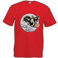 lepni.me Camisetas Hombre Aerógrafo - Máquina de Tinta del Tatuaje, Incada Pulgada está Tatuada, Consejos interesantes, Ropa de Ventilador, Ideas de Regalos de Humor (Large Rojo Multicolor)