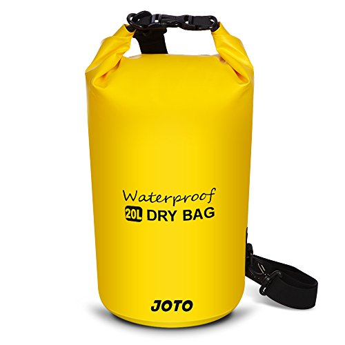 JOTO Dry Bag Sack Backpack 20L Waterproof Dry Bag for Outdoor Activities - Perfect for Boating, Kayaking, Fishing, Rafting, Hiking, Swimming, Floating, Camping [ 20L Floating Dry Bag ] (Yellow)