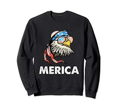 4th Of July Merica Bald Eagle Sweatshirt