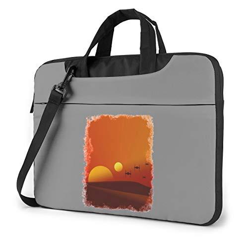 Planet Tatooine Classic Laptop Bag-Messenger Shoulder Bag Notebook Bag Compatible with 14 Inch MacBook Pro MacBook Air Lenovo Acer Asus Dell Hp Samsung