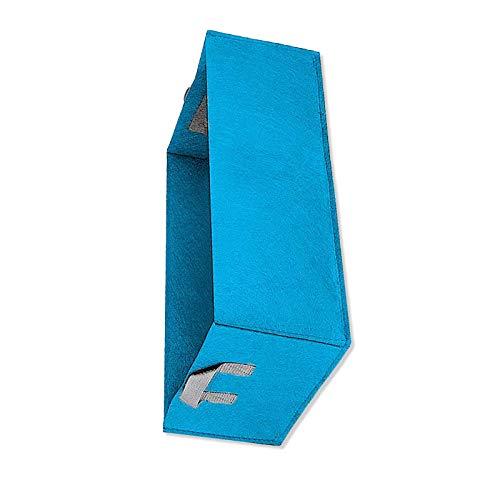 Cama de plantación cuadrada de tela elevada, protección del medio ambiente, para jardín, cultivo, 1 unidad, color azul