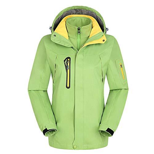 YSZDM Herfst En Winter Warm Jas Tweedelige Softshell Liner Mannen En Vrouwen Winddicht En Waterdicht Outdoor Bergbeklimmen Suit