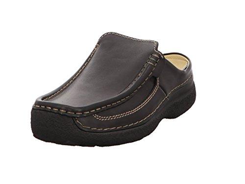 Wolky Comfort Komfortschuhe Roll Slide Men - 50000 schwarz Leder - 45