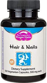 Dragon Herbs Hair & Nails -- 500 mg - 100 Vegetarian Capsules
