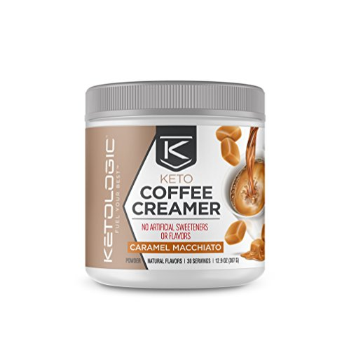 KetoLogic KetoLogic Keto Coffee Creamer with MCT Oil Powder, Caramel Macchiato | for Sustained Energy & Appetite Control | Low-Carb, Paleo Friendly & Keto Approved | 30 Servings
